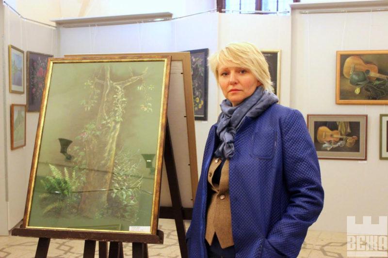 """Ірина Кравець презентувала """"Пастелі"""" у фортечній галереї «Бастіон» (відео)"""