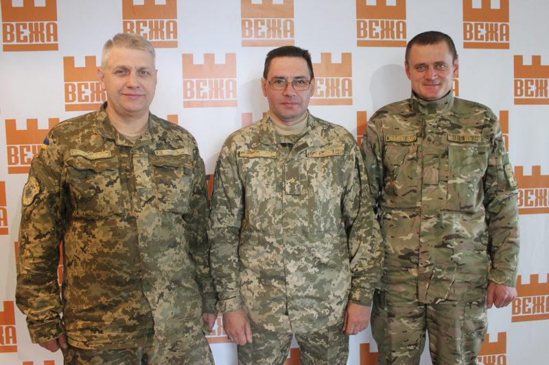 Представники військового комісаріату Юрій Мухін, Ігор Дзюба та Дмитро Дарцев (АУДІО)