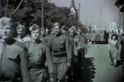 Червона армія вдруге входить в Станіслав (1944 р.) (ВІДЕО)