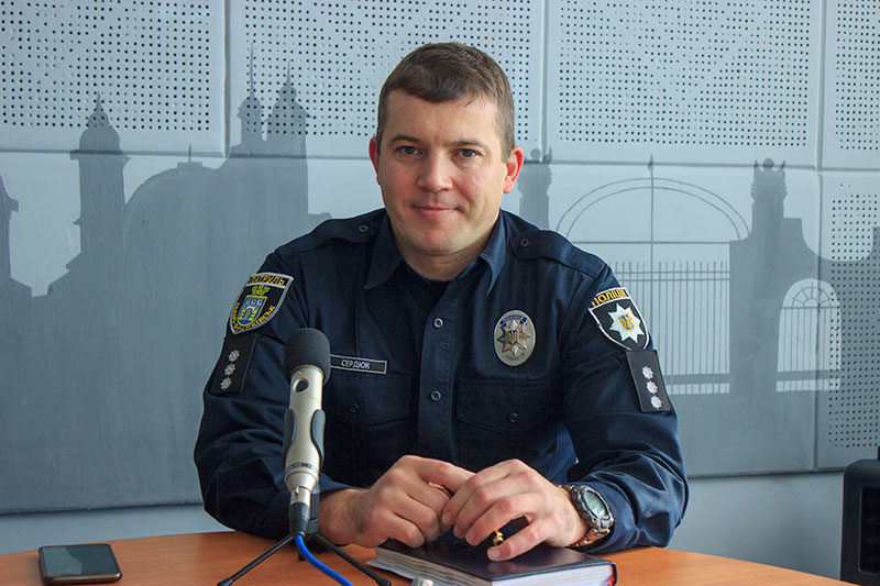 Олег Сердюк,заступник начальника управління Патрульної поліції Івано-Франківська (АУДІО)