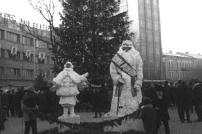 Місцеві художники, новорічні композиції біля ялинки та архітектурна виставка (1973) (ВІДЕО)