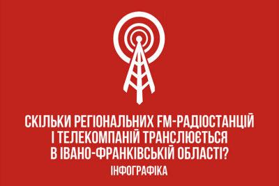 Скільки регіональних FM-радіостанцій і телекомпаній транслюється в Івано-Франківській області?