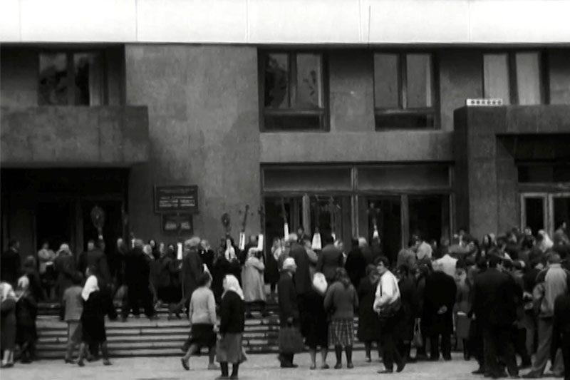 Розкопки у меморіальному сквері (1989) та протест православних (1990) (ВІДЕО)