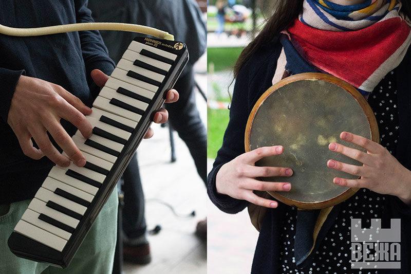 Дойра, ковбел, піаніка — незвичні інструменти на Дні вуличної музики (ФОТО)